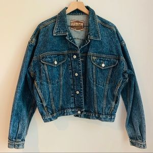 VINTAGE Jordache Cropped Denim Jacket